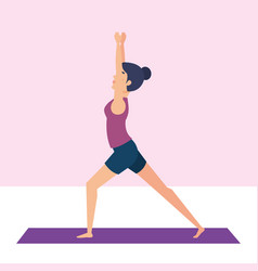 Girl doing yoga pose design vector