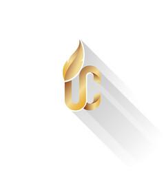 Gold on white upper class logo vector