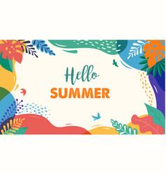 Hello summer festival and fair banner design vector