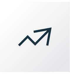 increase outline symbol premium quality isolated vector image