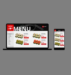 japanese food online shop concept vector image