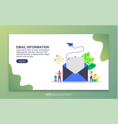 Landing page template email information modern vector