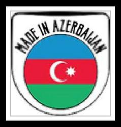 Made in Azerbaijan sign vector image
