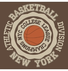 New york Brooklyn sport vector image