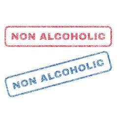 Non alcoholic textile stamps vector