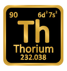Periodic table element thorium icon vector