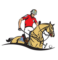 Polo club emblem vector
