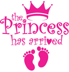 Princess has arrived label vector