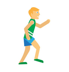 running man sports icon vector image