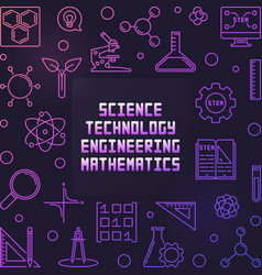 science technology engineering and math colorful vector image