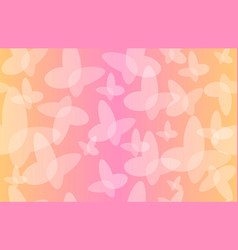 Seamless pattern butterfly transparent vector
