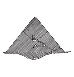 section of great pyramid egyptian architecture vector image
