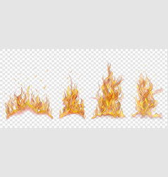 set burning campfires vector image