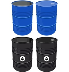 Set full barrel oil isolated vector image