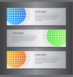set of design world banner template vector image