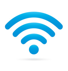 sky light blue wifi icon wireless symbol vector image