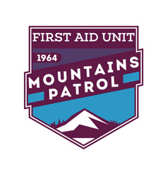 snow patrol first aid unit label vector image