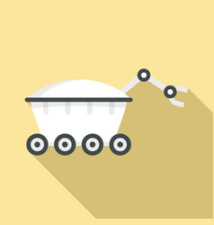 space rover icon flat style vector image