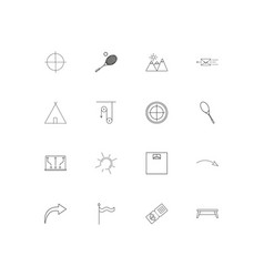 Sport fitness and recreation simple linear icons vector
