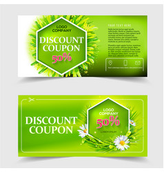 Spring and summer sale coupon vector