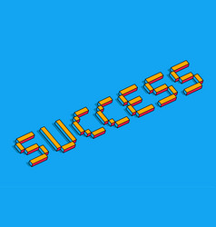 success 3d background vector image