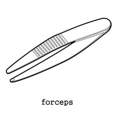 Surgical forceps icon outline vector