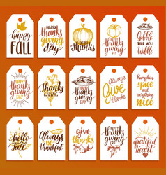tags with lettering and for vector image