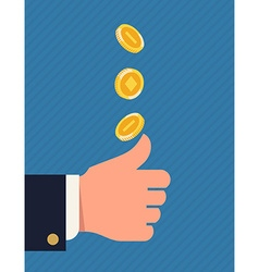 Throwing Coin vector image