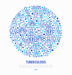 Tuberculosis concept in circle vector