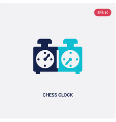 Two color chess clock icon from human resources vector