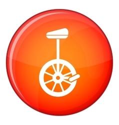 Unicycle icon flat style vector image