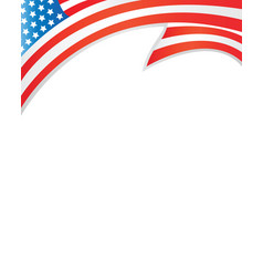 Usa flag border template vector