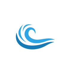 water wave icon design template isolated vector image