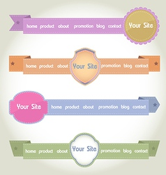 Web Elements Header vector