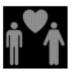 white halftone gay lovers icon vector image