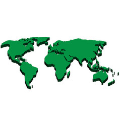 World map in 3d vector