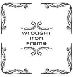 Wrought Iron Frame Three vector