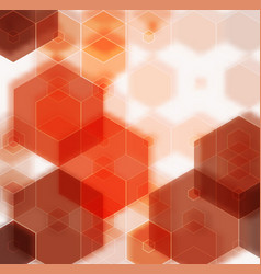 Yellow orange brown abstract background polygon vector
