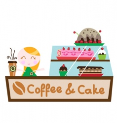 coffee cake shop vector image vector image