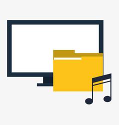 computer digital folder music vector image