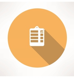 form with a check mark icon vector image