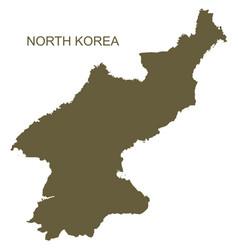 North korea contour vector