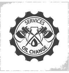 Oil change services logo vector