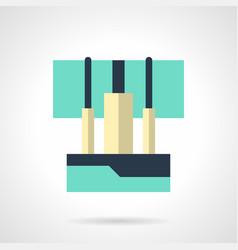 sound console flat color icon vector image vector image