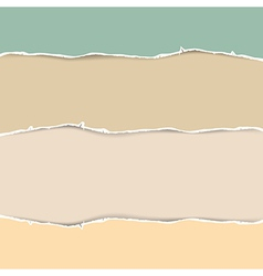 Torn Paper Abstract in Pastel Colors vector image vector image