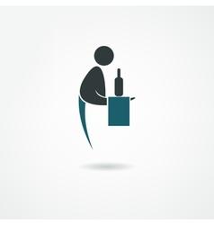 Waiter icon vector