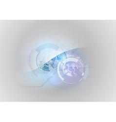 abstract tech blue vector image vector image