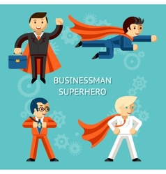Business superheroes characters vector image vector image