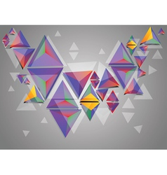 Colorful 3d Triangles vector image vector image