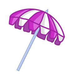 purple beach umbrella isolated vector image